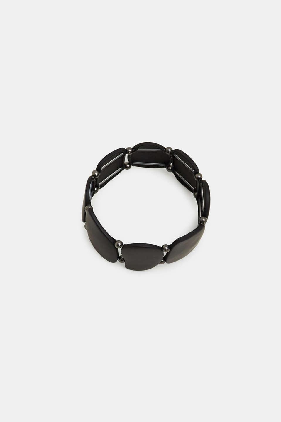 Stretchy metal bracelet, BLACK, detail image number 0