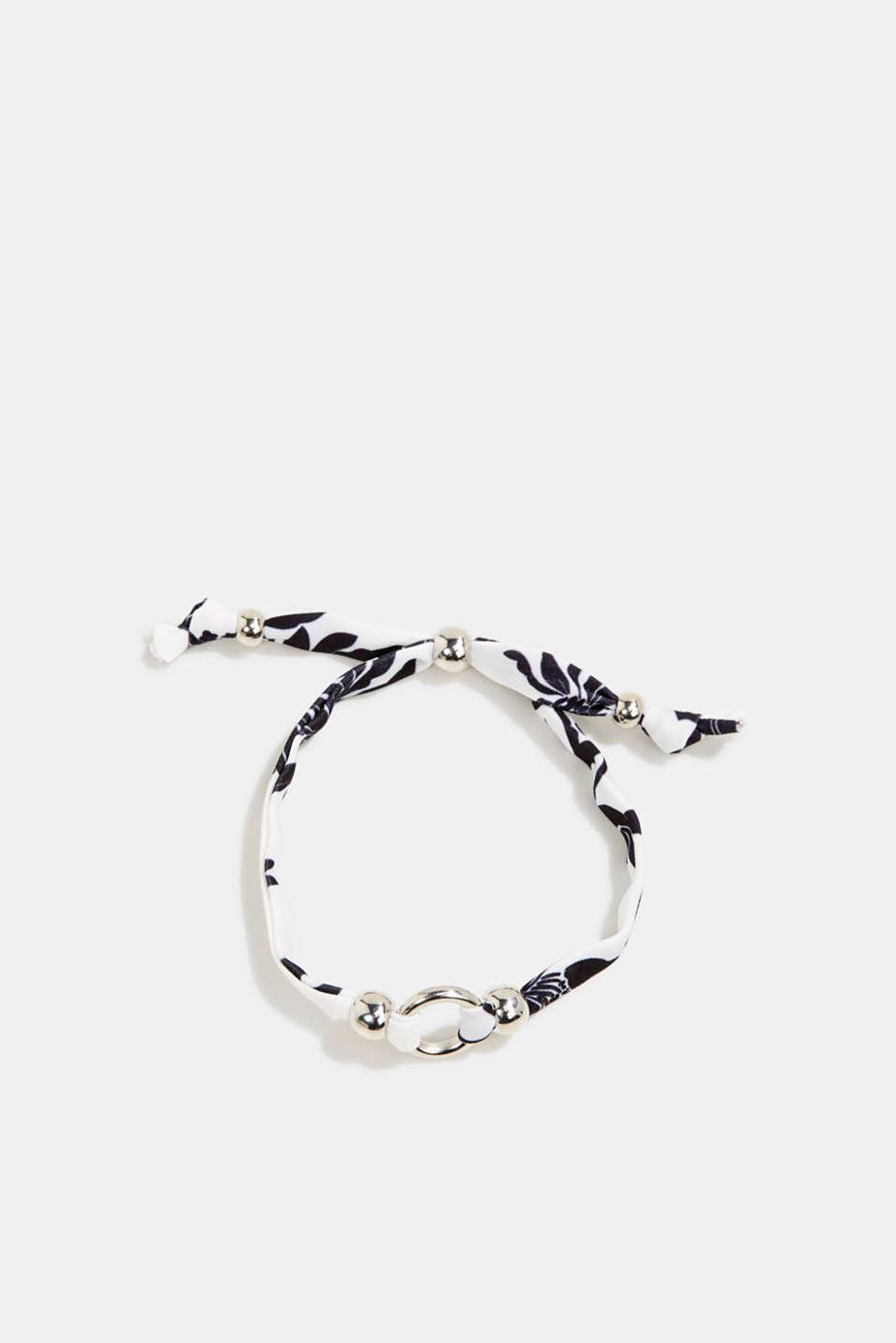 Textile bracelet with ring pendants, 1COLOR, detail image number 0