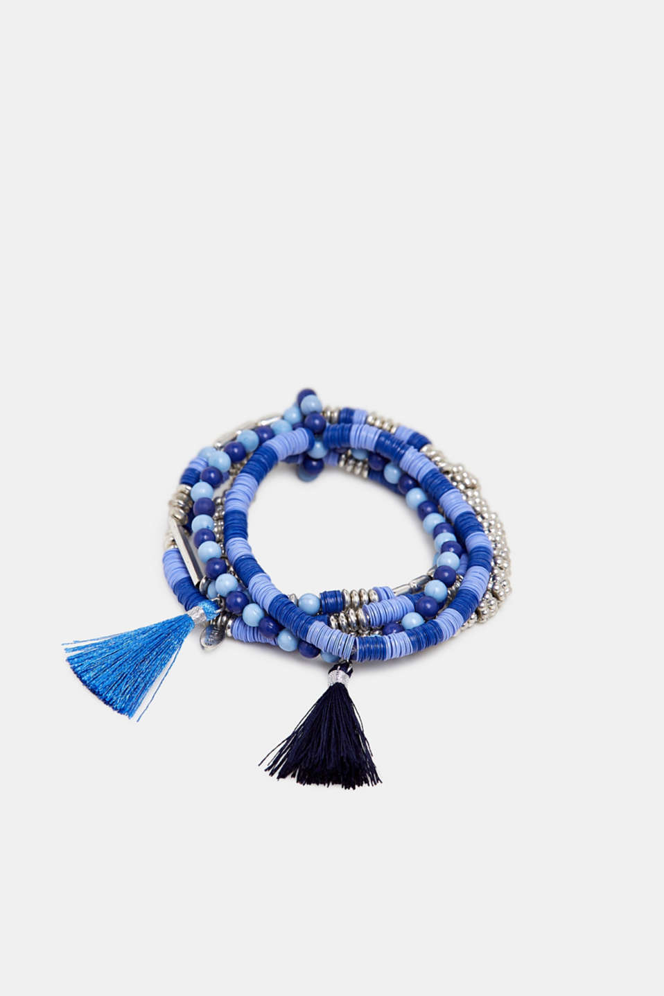 Set of bead bracelets with tassels