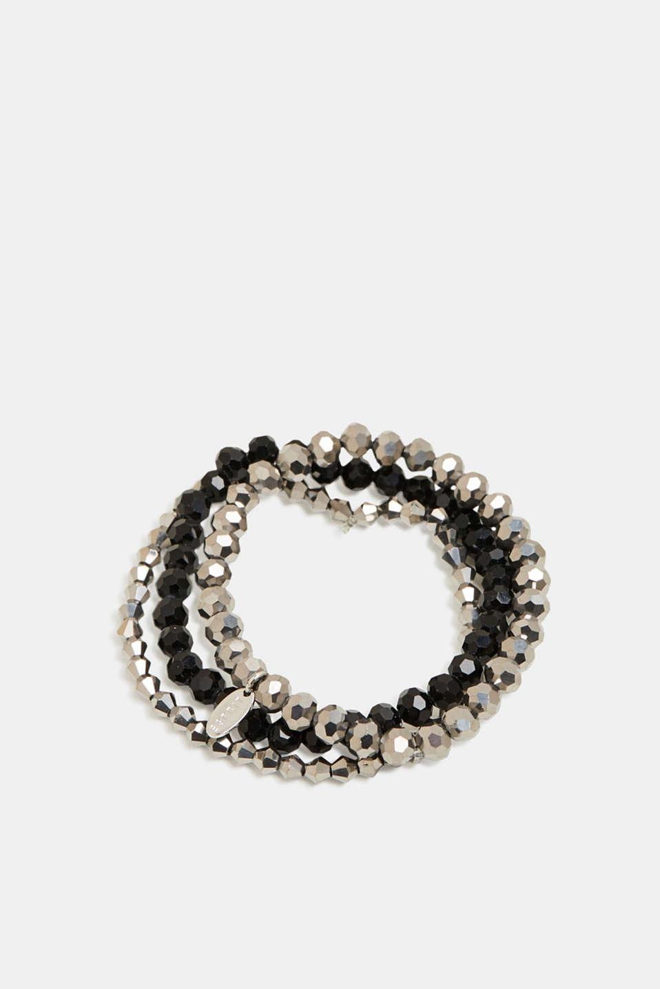 Set of three bracelets, BLACK, detail image number 0
