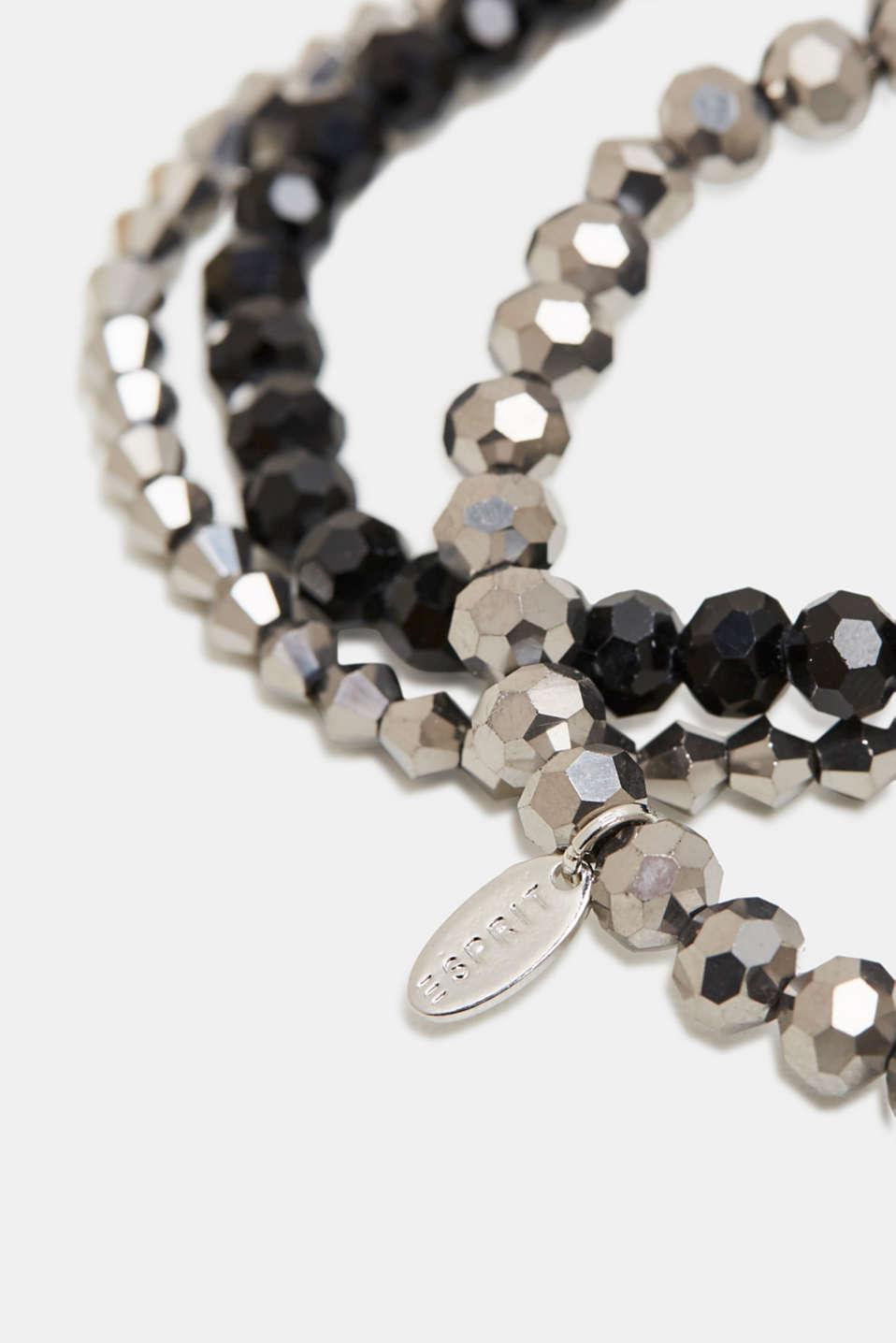 Set of three bracelets, BLACK, detail image number 1