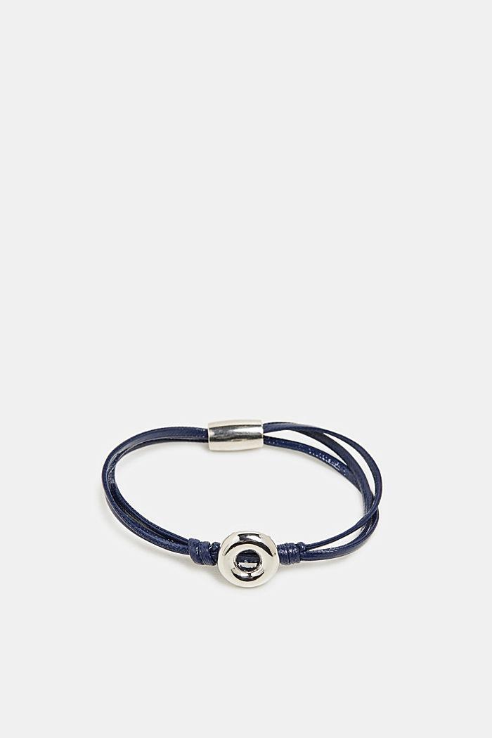 Bracelet with a metal ring pendant, BLUE, detail image number 0
