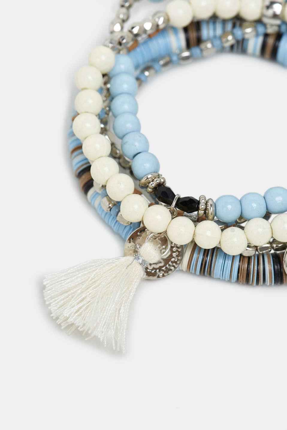 Elasticated 6-piece bracelet, BLUE, detail image number 1