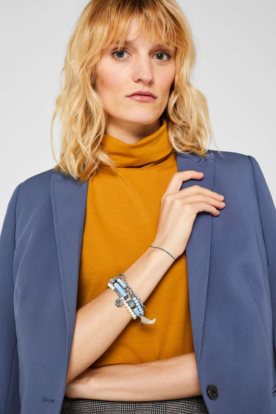 Elasticated 6-piece bracelet, BLUE, detail image number 2