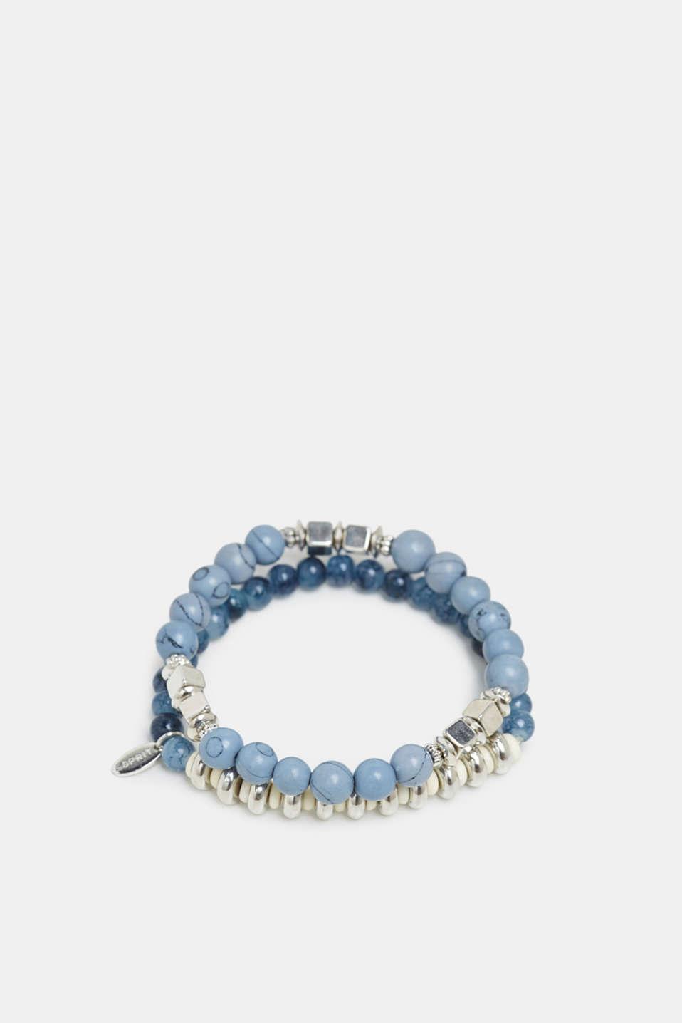 Set of two beaded bracelets, BLUE, detail image number 0