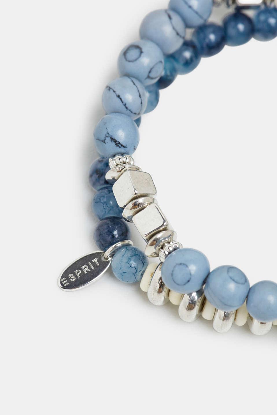 Set of two beaded bracelets, BLUE, detail image number 1