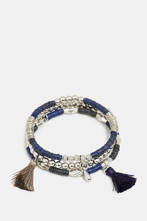 3-pack of stretchy bracelets with beads