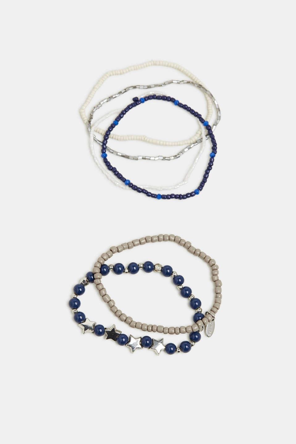 Set of stretchy bracelets, BLUE, detail image number 0