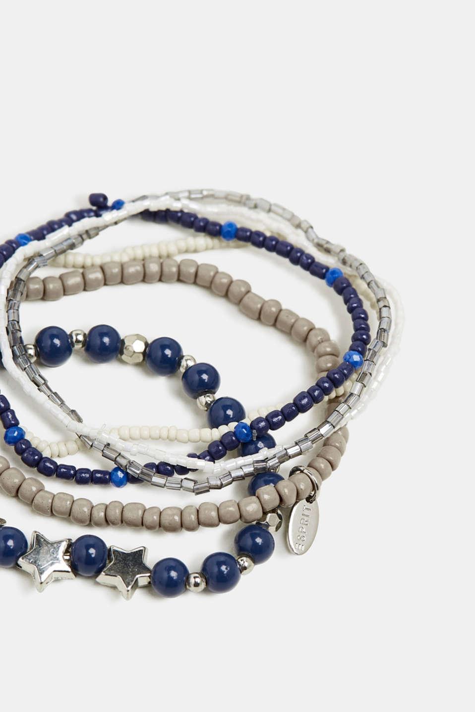 Set of stretchy bracelets, BLUE, detail image number 1