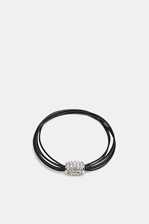 Bracelet with facet-cut stones