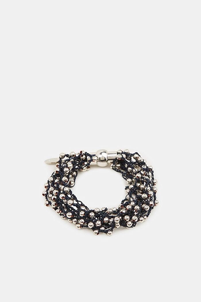 Bracelet with metal beads, BLACK, detail image number 0
