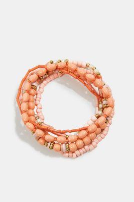 Set of six elasticated bracelets, ROSE, detail