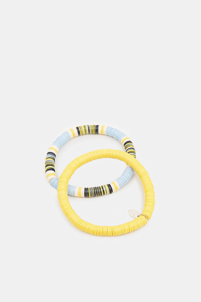 Set of two bracelets with multi-coloured discs, YELLOW, detail image number 0