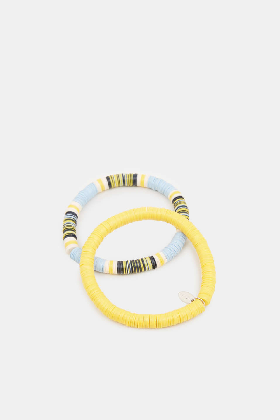 Esprit - Set of two bracelets with multi-coloured discs