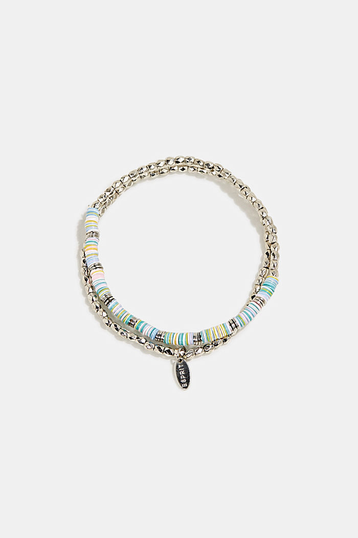 Set of two: stretchy bead bracelets