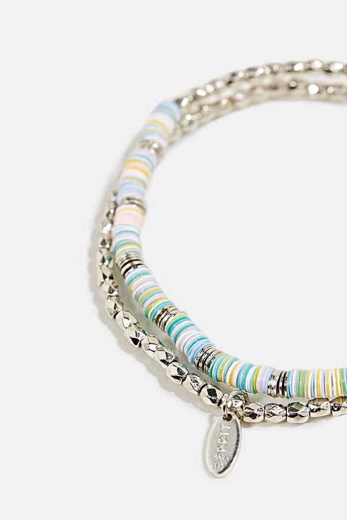Set of two: stretchy bead bracelets, BLUE, detail image number 1