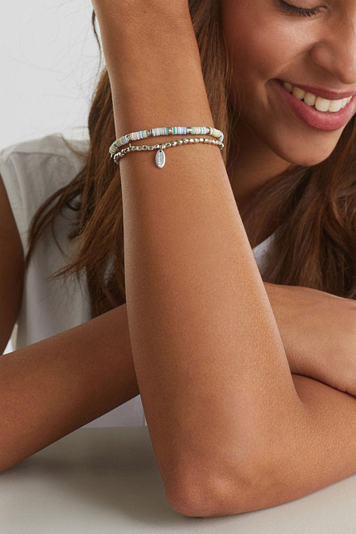 2er-Set: elastische Perlchen-Armbänder