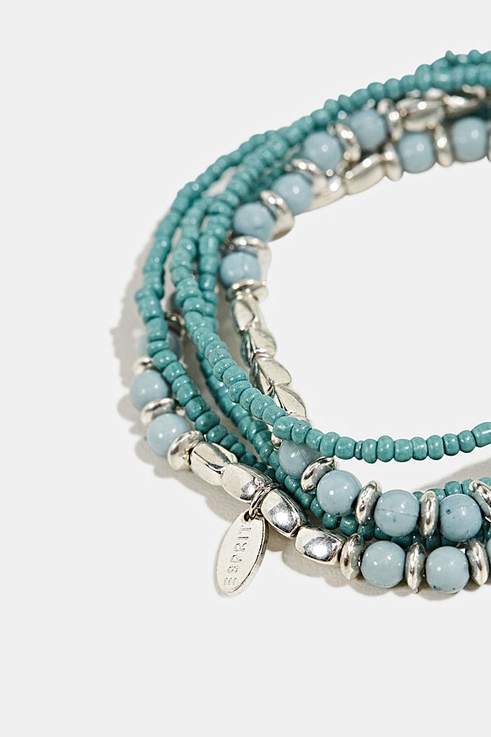 Set of five beaded bracelets, BLUE, detail image number 1