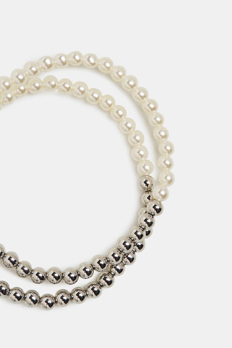Set of beaded bracelets, WHITE, detail image number 1