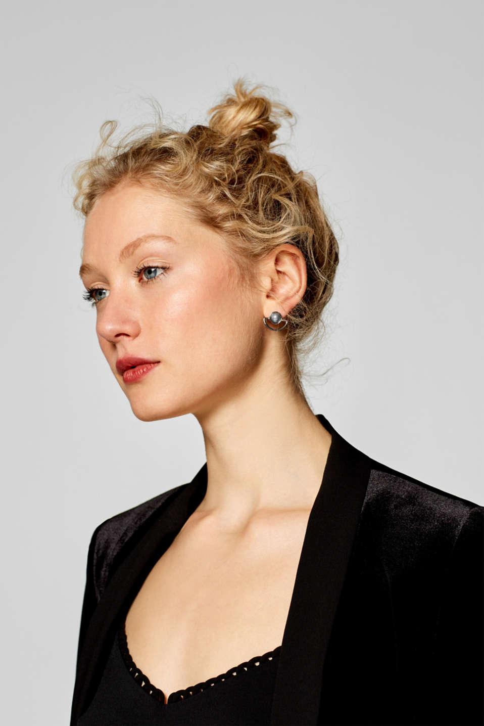Earrings Costume Jewellery, SILVER, detail image number 2