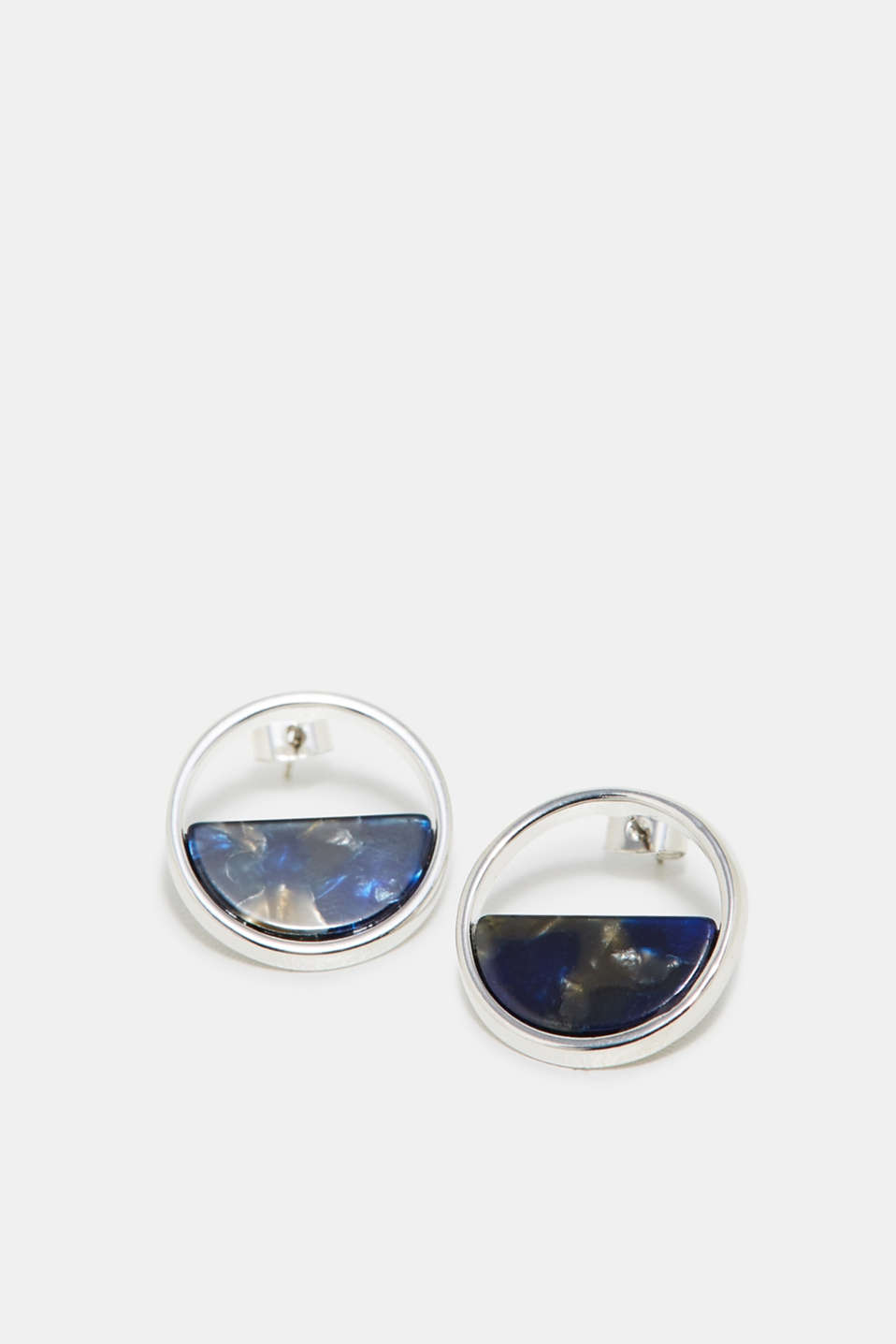 Esprit - Earrings trimmed with an authentic-looking horn effect