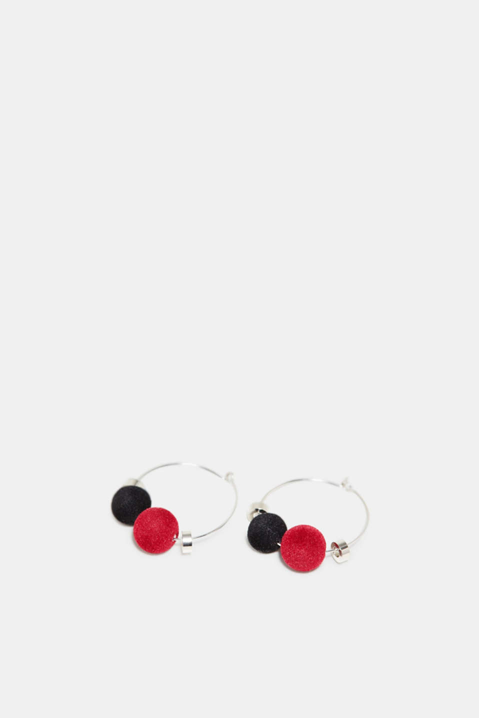 Esprit - Hoop earrings with velvet beads