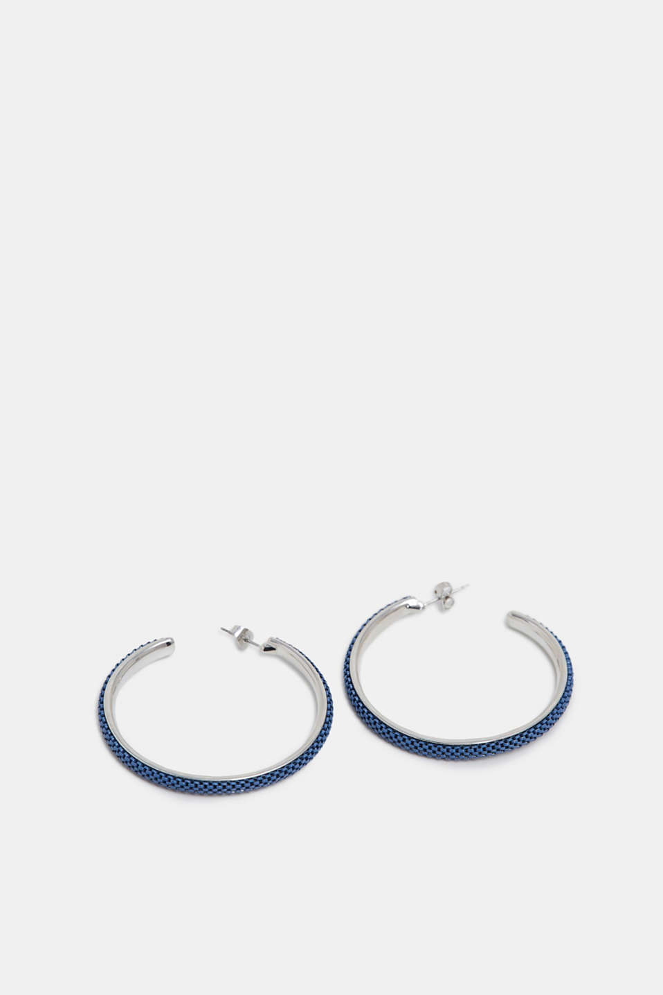 Creoles with metal links, BLUE, detail image number 0