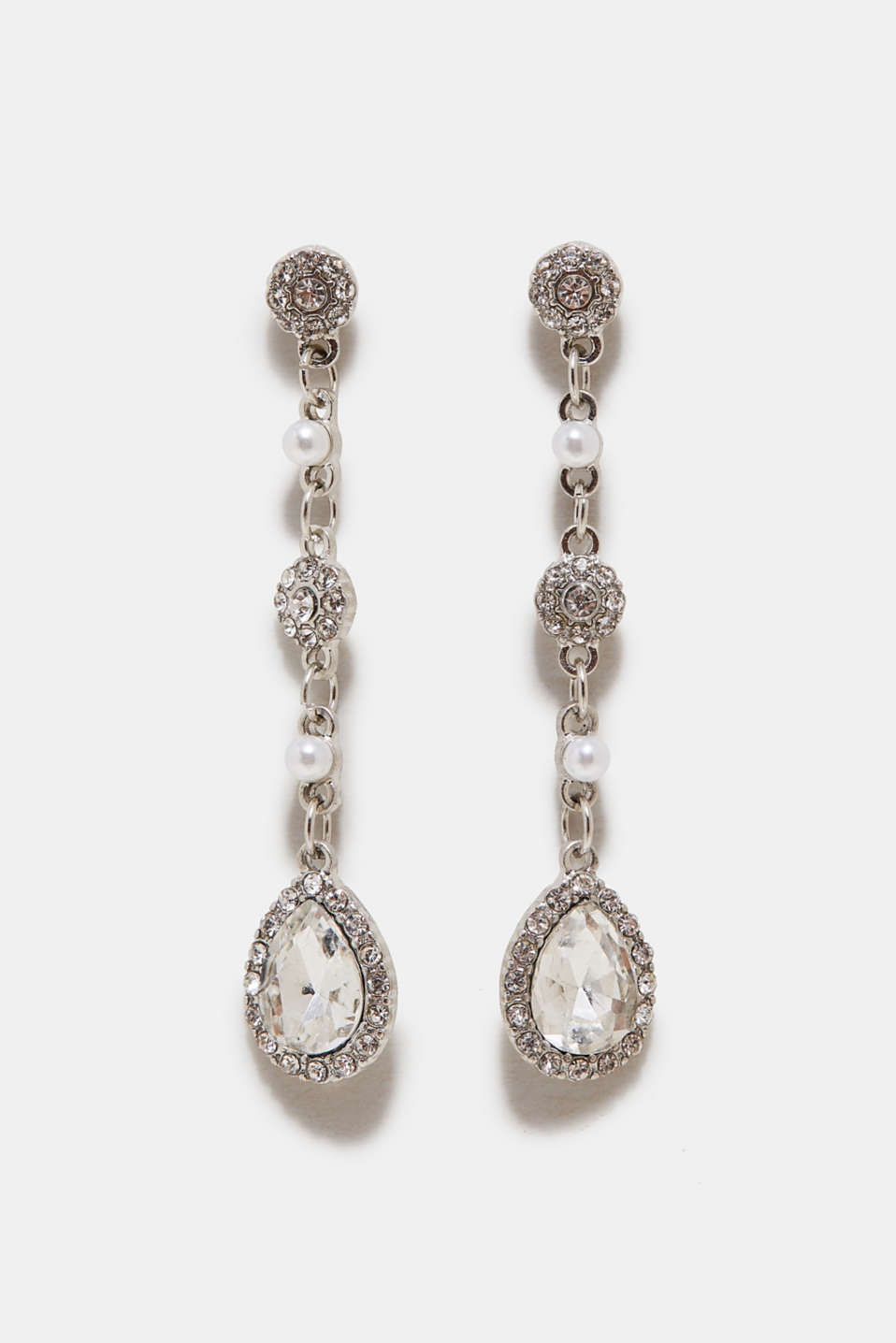 Esprit - Earrings with sparkling facet-cut stones
