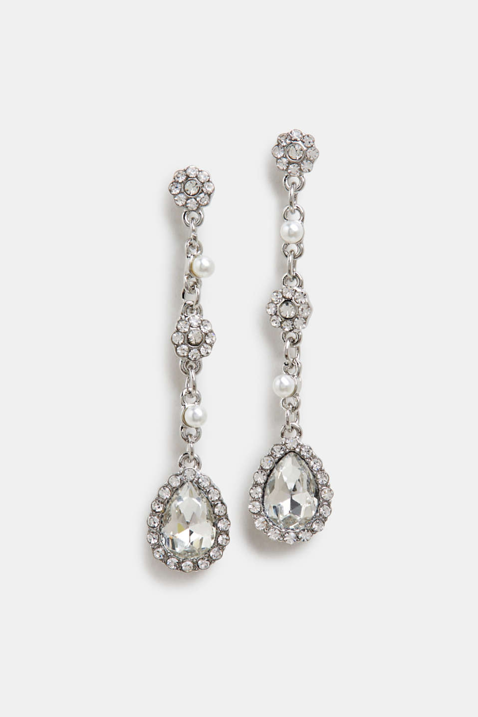 Earrings Costume Jewellery, SILVER, detail image number 0
