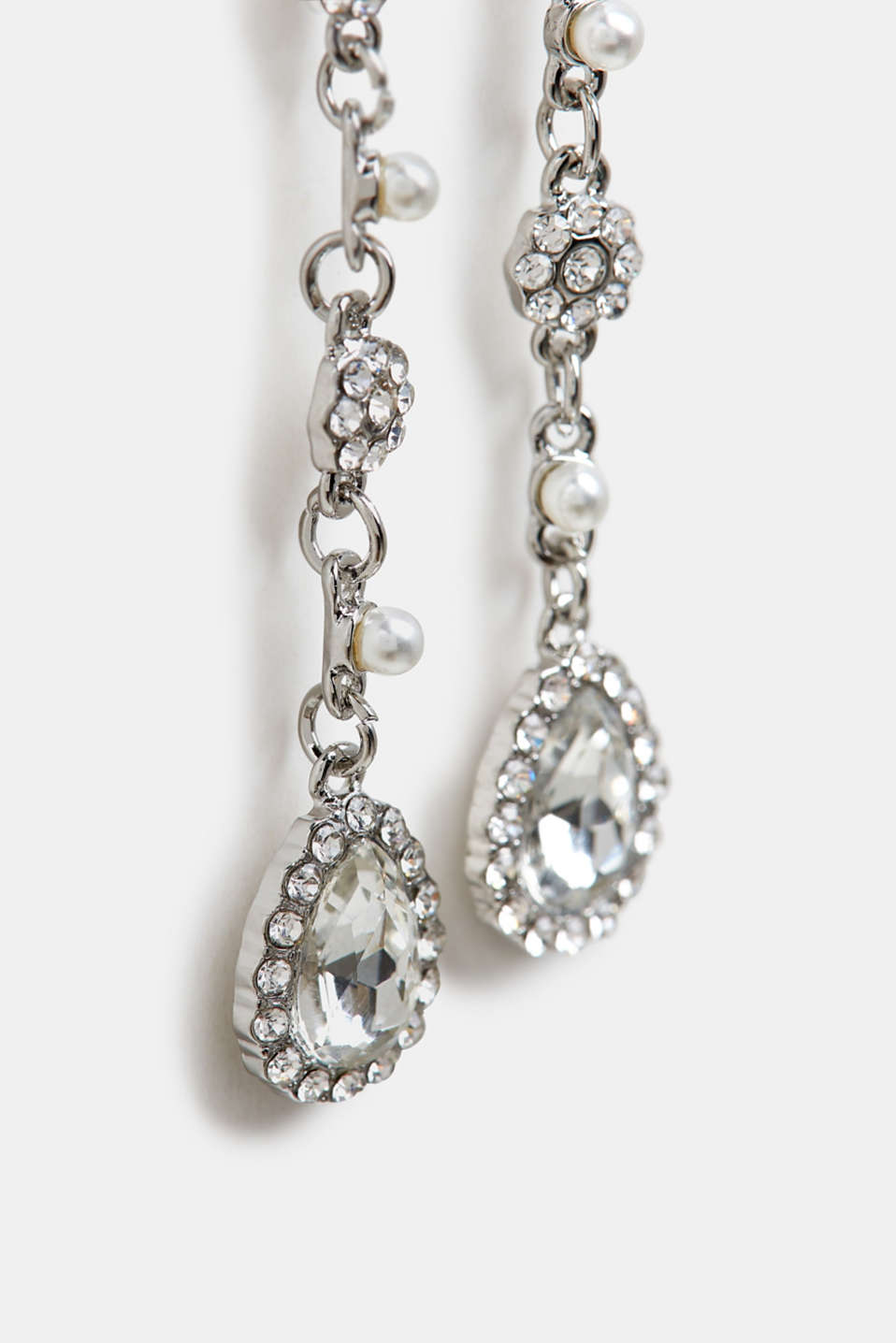 Earrings Costume Jewellery, SILVER, detail image number 1