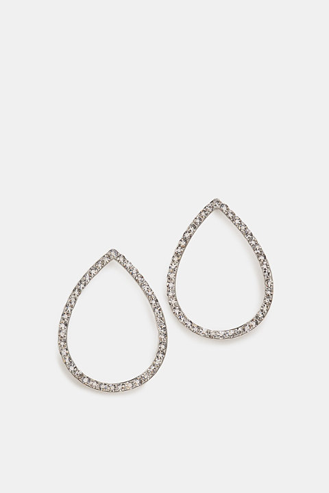 Stud earrings with facet-cut stones
