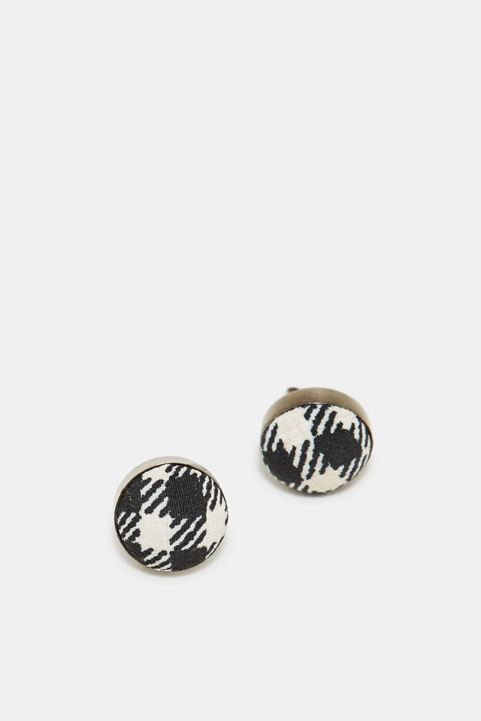 Esprit - Stud earrings with a check pattern