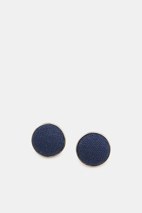 Stud earrings with fabric trim