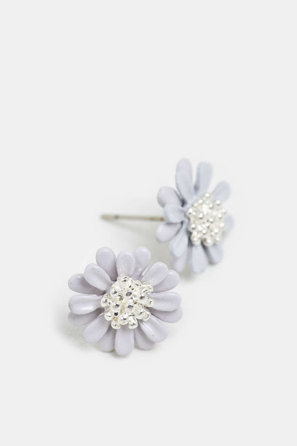 Esprit - 3D stud earrings with flower motif