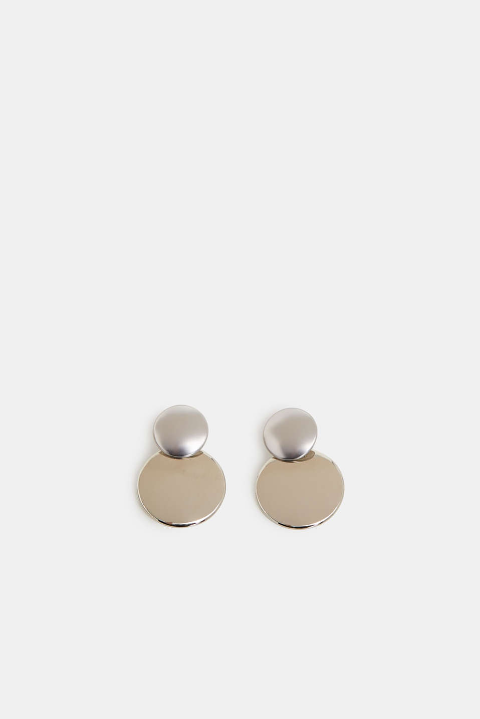 Esprit - Metal stud earrings with round pendants