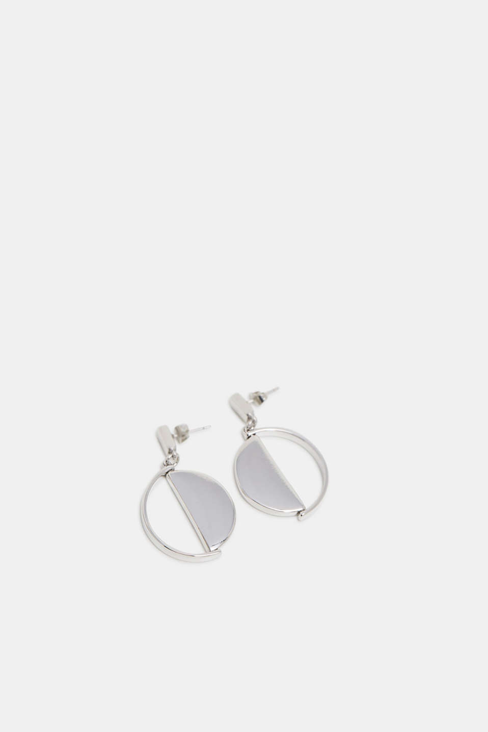 Esprit - Metal stud earrings with a mobile link