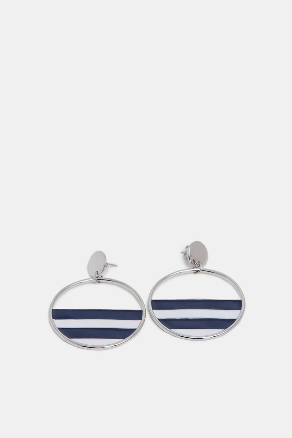 Esprit - Striped detail metal earrings