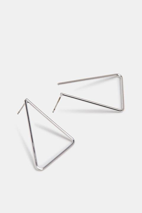 Geometric, metal earrings