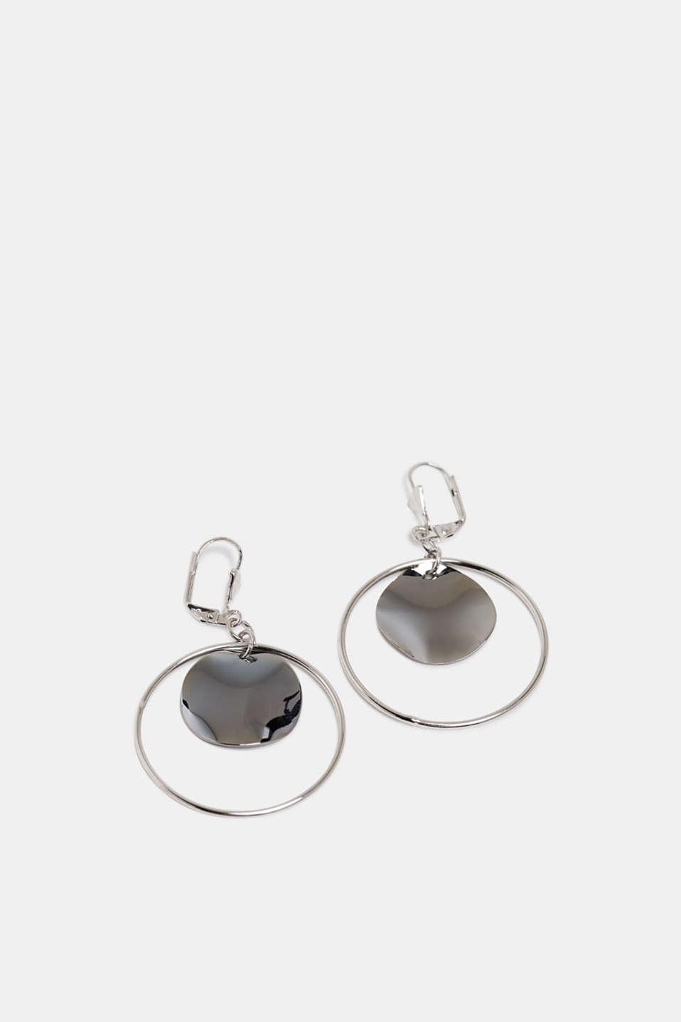 Metal earrings, SILVER, detail image number 1