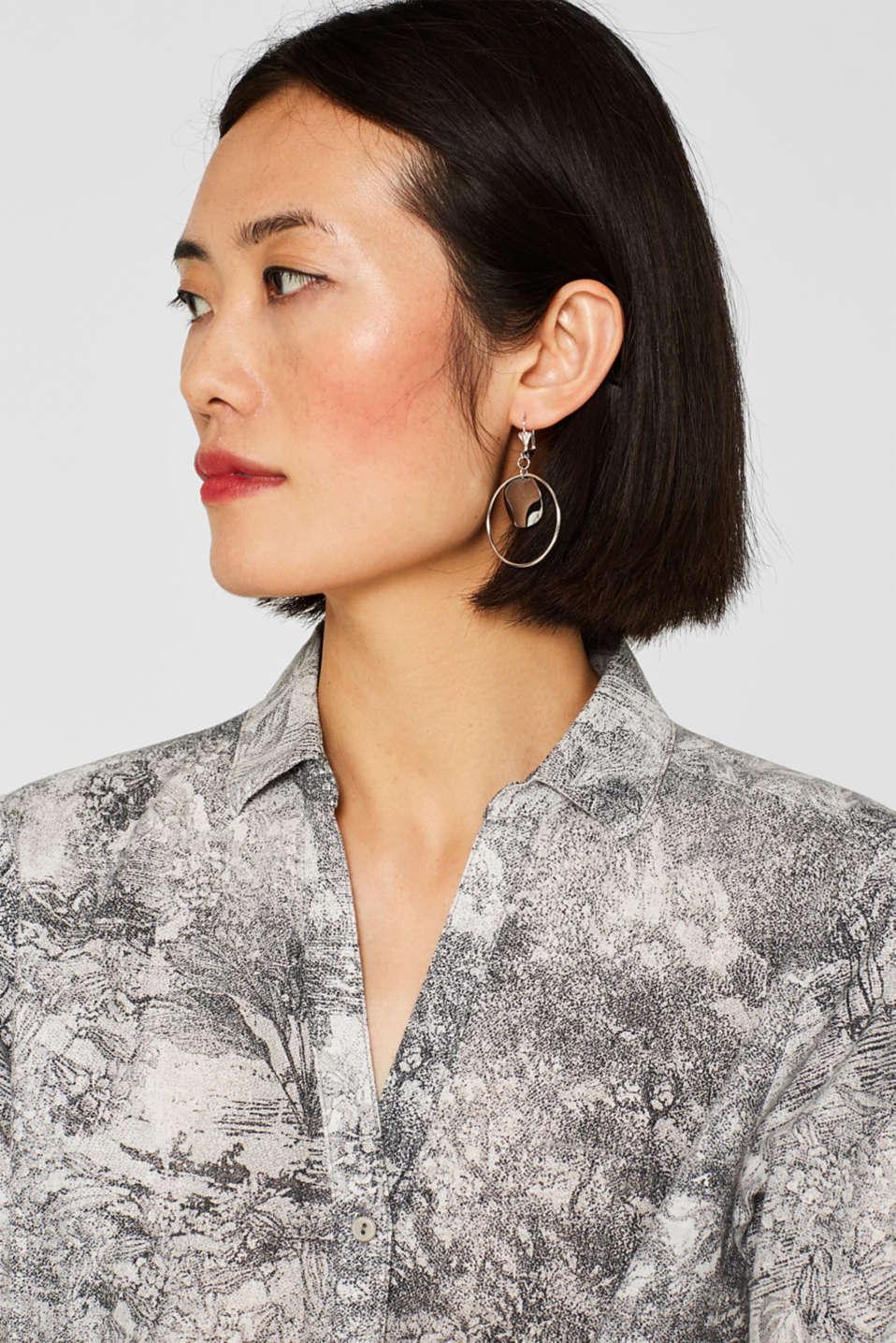 Metal earrings, SILVER, detail image number 2
