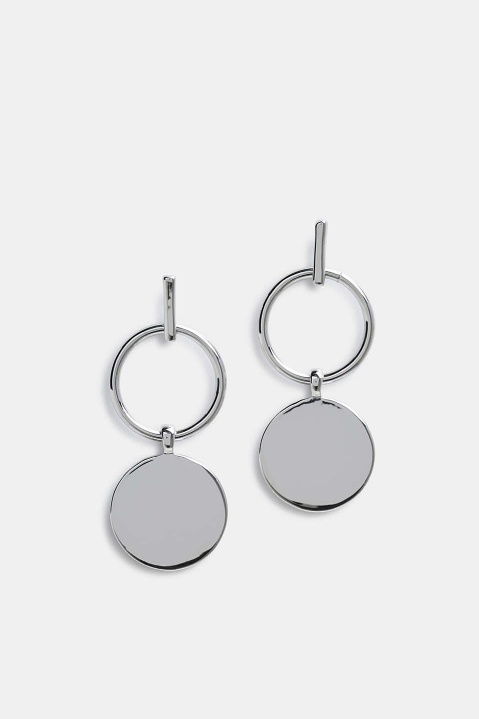 Esprit - Stud earrings with metal discs