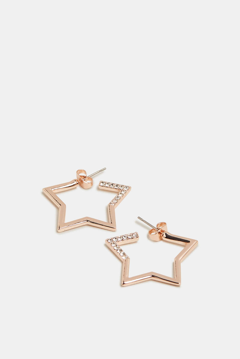 Esprit - Stud earrings with facet-cut stones