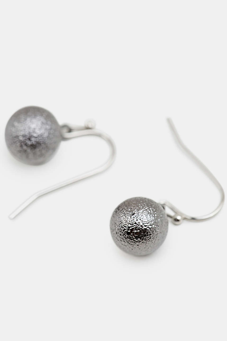 Stud earrings with sphere pendants, LC1COLOR, detail image number 1