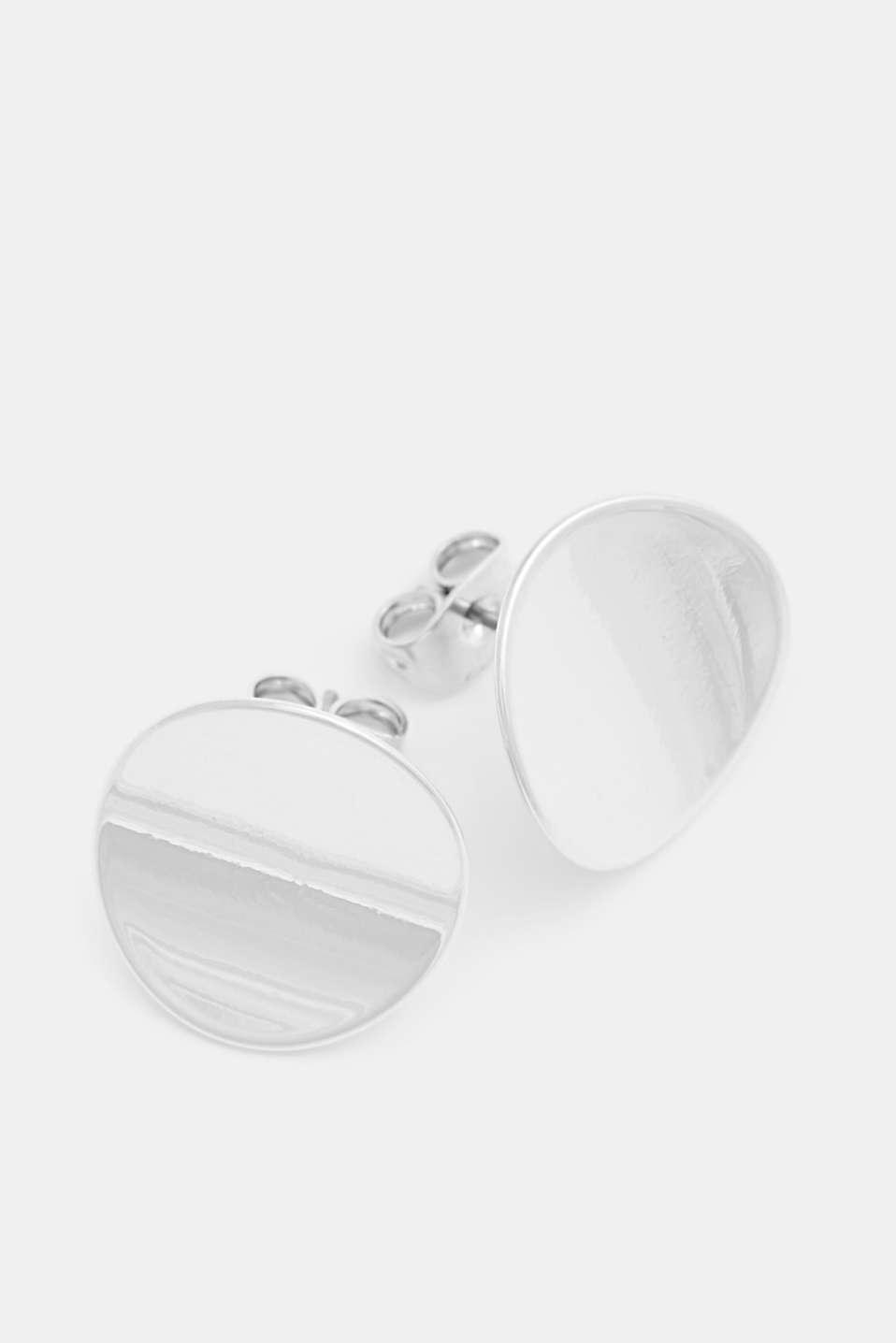 Metal stud earrings, 1COLOR, detail image number 1