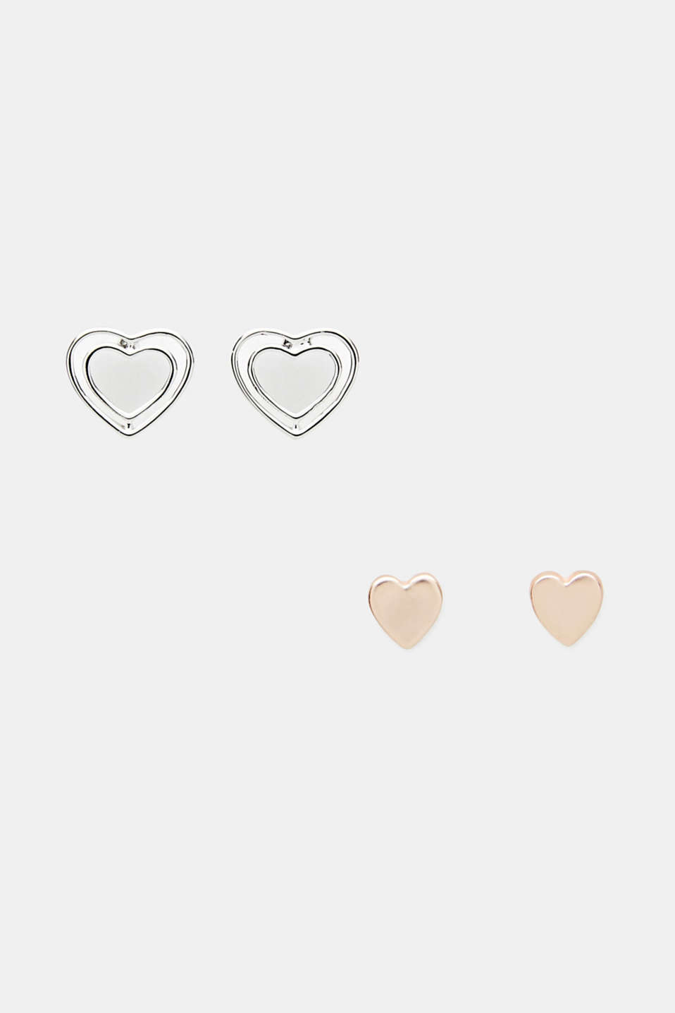 Heart stud earring set, LC1COLOR, detail image number 0
