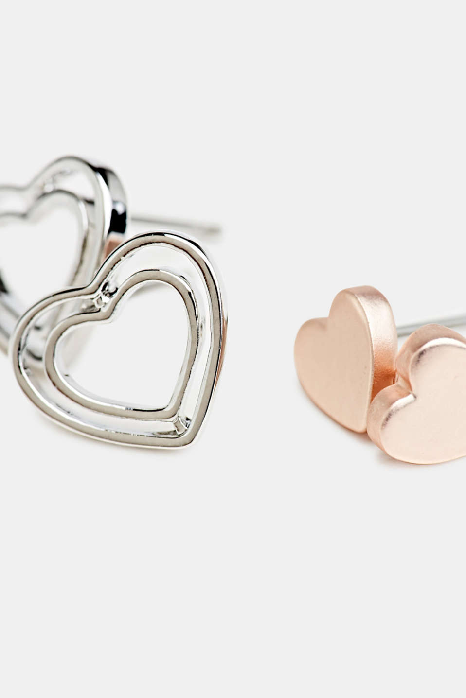 Heart stud earring set, LC1COLOR, detail image number 1