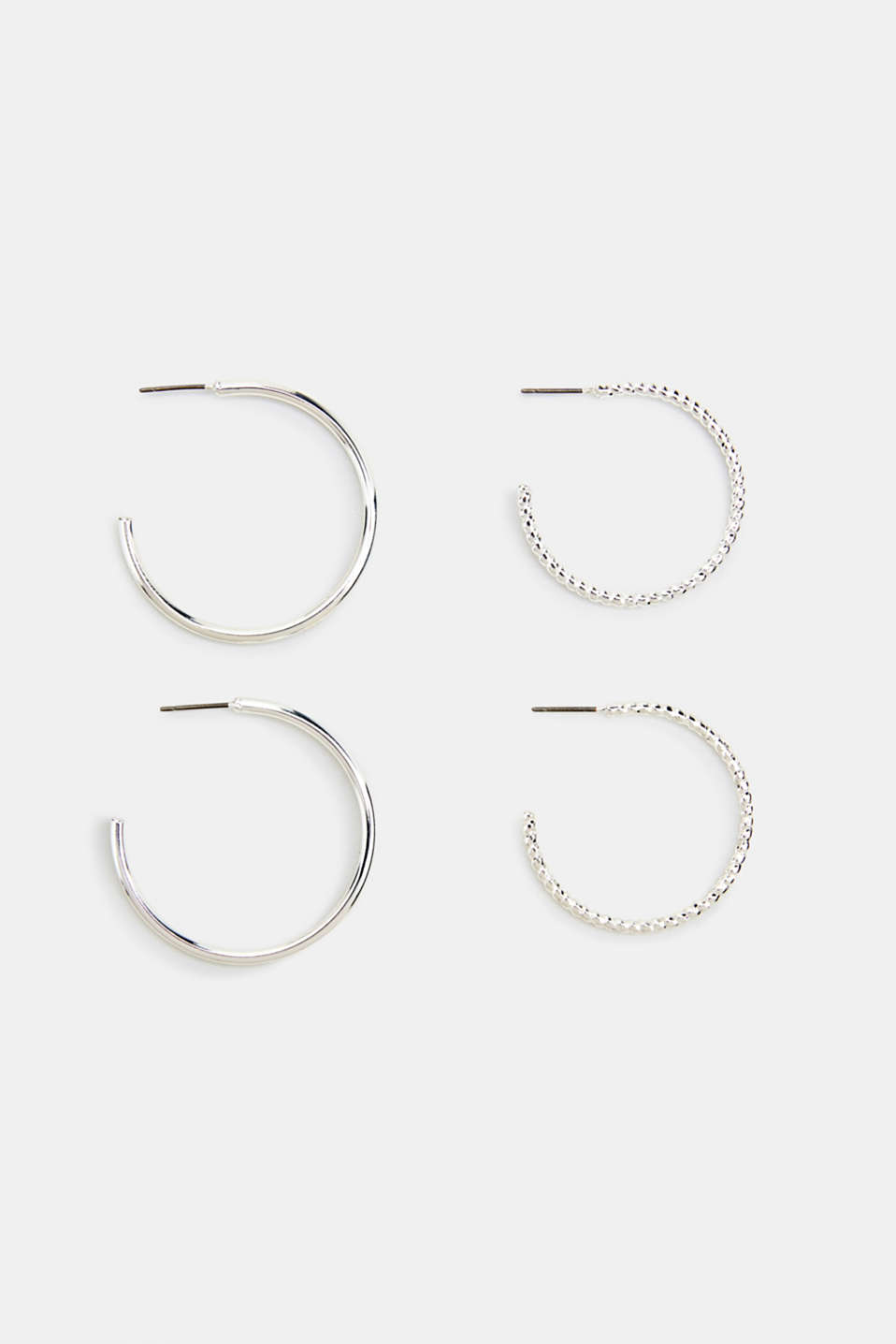 Set consisting of two pairs of hoop earrings, LC1COLOR, detail image number 0