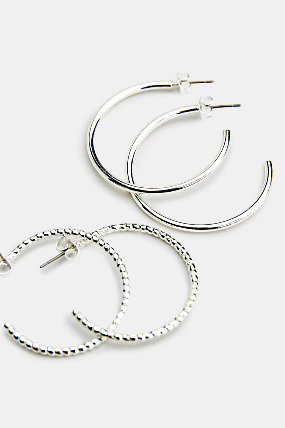 Set consisting of two pairs of hoop earrings, LC1COLOR, detail image number 1
