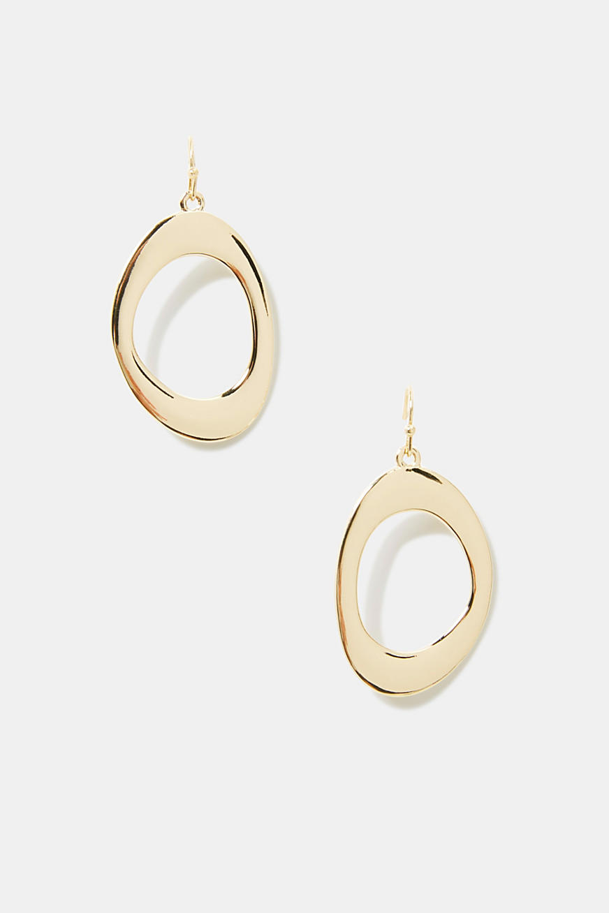 earrings with oval elements