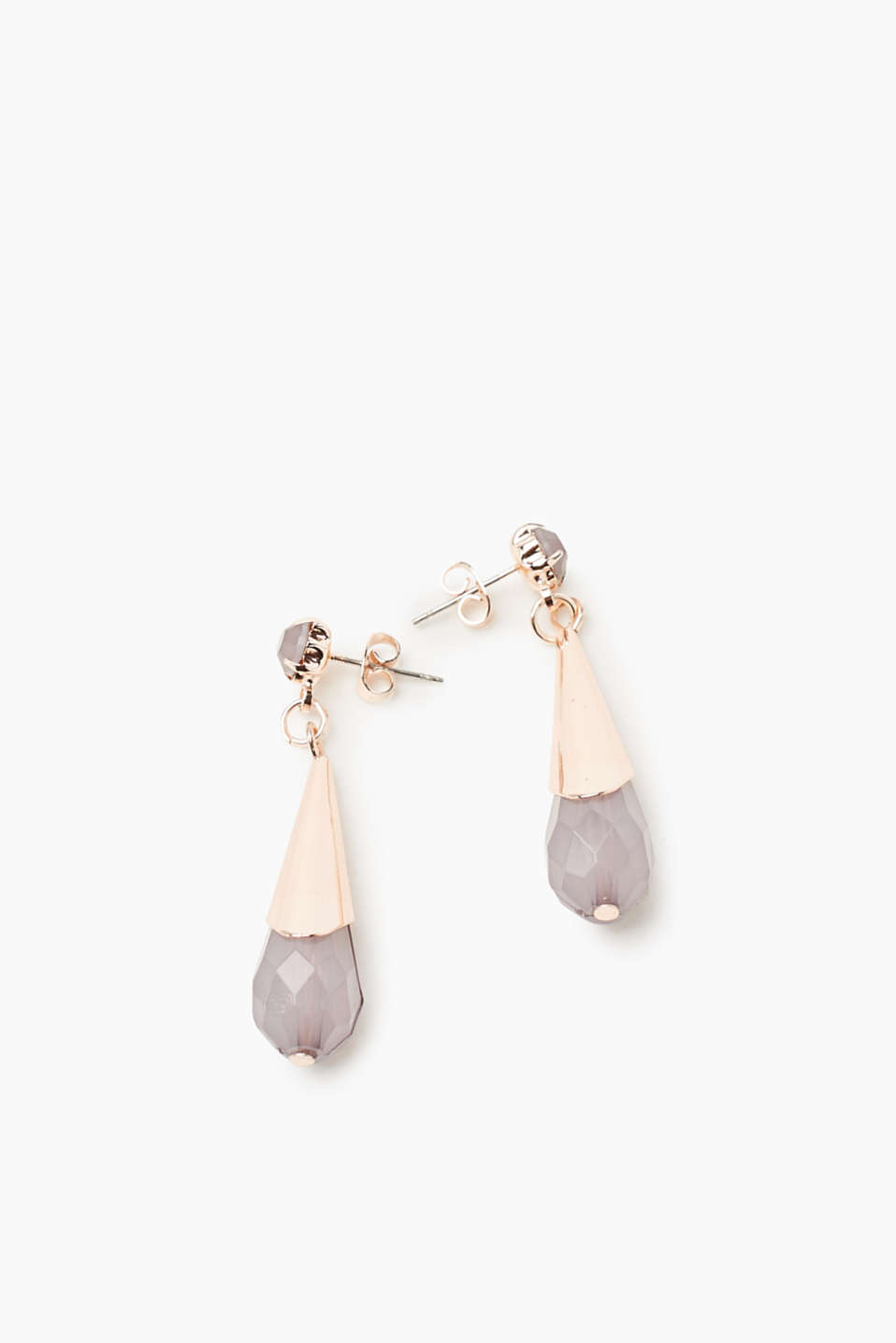 These earrings are a stylish accessory thanks to the elegant tear-drop shape and high-quality precious stone look.